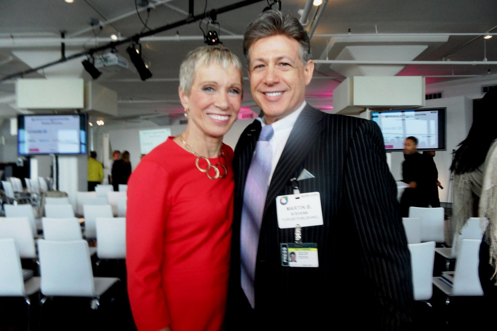 Barbara Corcoran and Martin Stevens of Forum Publishing